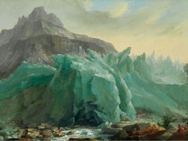 Grindelwaldgletscher mit Lütschine von Caspar Wolf um 1774