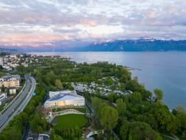 Gemäss einer Mitteilung des Komiteeswurden im Projekt mehr als 95 Prozent der ehemaligen IOC-Zentrale wiederverwendet oder recycelt.