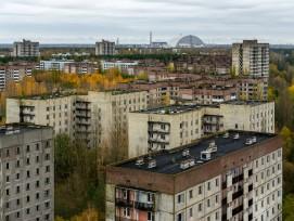 Die Stadt Pripyat von oben.