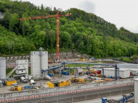 Eppenbergtunnel-Baustelle