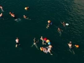 Flussschwimmen