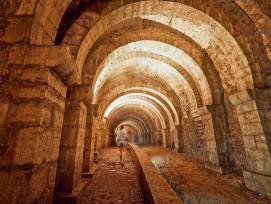 Imposant: Blick in die unterirdischen Stollen der «Grossen Saline» von Salin-les-Bains.