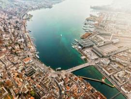 Für die Seeunterquerung, die Teil des Projekts des Durchgangsbahnhofs in Luzern ist, muss der Vierwaldstättersee in Teilstücken nacheinander trockengelegt werden.