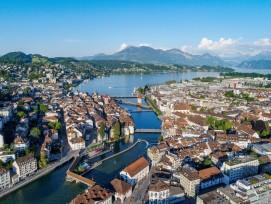 Blick aus der Vogelperspektive auf die Stadt Luzern