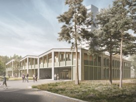 Visualisierung neue Schule Bethlehemacker Bern