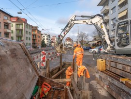 Bauarbeiten Limmattalbahn erste Etappe