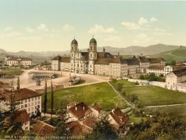 Historische Postkarte von Einsiedeln