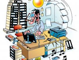 Stress im Büro.
