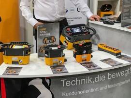 Peter Windlin, Verkaufsleiter/Verkauf Aussendienst Funkfernsteuerungen, am Stirnimann-Stand an der 26. Forstmesse in Luzern.