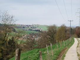 Blick auf die Gemeinden Böbikon und Baldingen im Kanton Aargau.