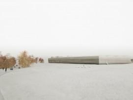 Visualisierung des neuen Sammlungszentrums in Augusta Raurica.