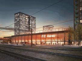 Fussballstadion Aarau, Visualisierung.