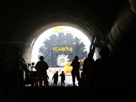 Bohrkopf beim Bözberg-Tunnel 2017