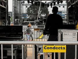 Absperrgitter braucht ein Festival nicht nur, um Musiker und die Technik zu schützen.