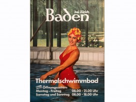 Plakat, Thermalbad Baden.