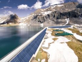 Visualisierung Solarmodule Muttsee-Staumauer