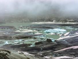 Gletschersee beim Rhonegletscher.