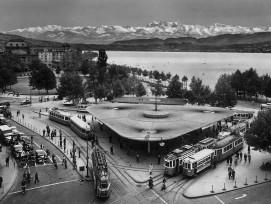 Bellevue in Zürich in den 50er-Jahren.