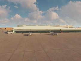 Visualisierung neuer Hangar Flughafen Zürich