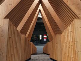 Holzpavillon an der Swissbau.