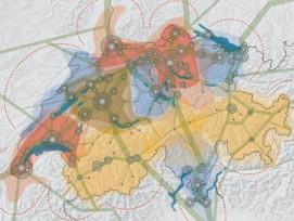 Das Raumkonzept Schweiz teilt das Land in zwölf Handlungsräume auf. (Bild: Bundesamt für Raumentwicklung (ARE))
