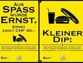 Mit solchen Plakaten werden die Berner auf die neuen Bussen aufmerksam gemacht. (Bilder: bern.ch)
