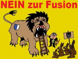 Die Gegner einer Fusion konnten sich mit ihren Argumenten durchsetzen. (Bild: www.gegen-grossluzern.ch)