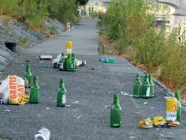 Wer kommt für die Räumung achtlos weggeworfenen Abfalls auf? (Bild: Archiv SKR)
