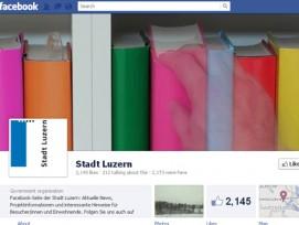 Über 2000 «gefällt mir»: DIe Facebook-Seite der Stadt Luzern.