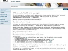 «Amtsblatt des Kantons Aargau» als Online-Gratiszeitung