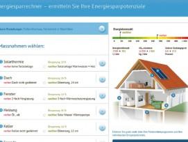 Einfach und anschaulich: Der Energiesparrechner auf «baufördergelder.ch» zeigt das Potenzial einer energetischen Sanierung auf.