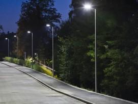 LED-Strassenbeleuchtung im Quartier Schönberg-Ost in Bern.