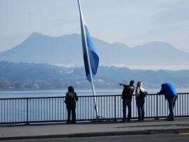 Ausblick von der Seebrücke: Die Stadt Luzern will durch Fusionen ihr Gebiet vergrössern. (Bild: Michael Staub)