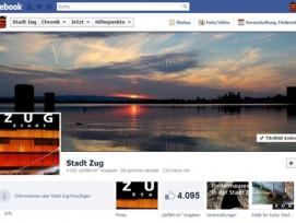 Erfolgreiches Social-Media-Projekt: Die Facebookseite der Stadt Zug.