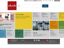 Kommt nach einem Redesign frisch, im Stil von Apps und Windows 8 daher: Das Portal «ch.ch».
