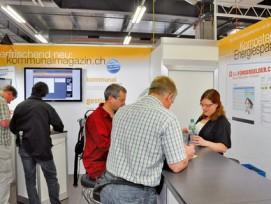 Erfolg durch Information: Am «kommunalmagazin»-Stand stellt die DocuMedia GmbH ihre Produkte vor.