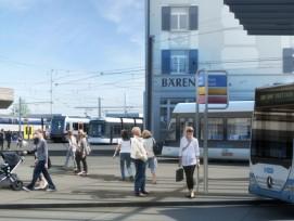 Verkehrsknoten Bahnhof Dietikon: Ab 2019 soll dort mit der Limmattalbahn auch ein Tram verkehren.