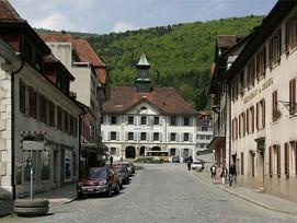 Ist neu auch eine Energiestadt: Moutier im Berner Jura.