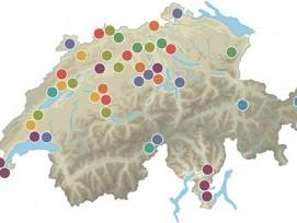 Bereits kann man sich für Modellvorhaben der dritten Generation bewerben. Auf der Karte: Von 2007 bis 2011 unterstützte der Bund Projekte in der ganzen Schweiz.