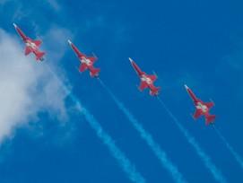 Werden nicht über Luzern fliegen: Die Flugzeuge der Fliegerstaffel Patrouille Suisse.