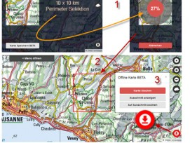 Das kann Google Maps noch nicht: Auf dem Geoportal des Bundes können Karten zur mobilen Offline-Nutzung heruntergeladen werden.