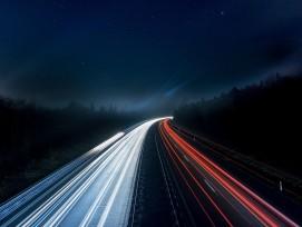 Lichter auf Autobahn