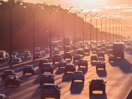 Pendelverkehr auf Autobahn