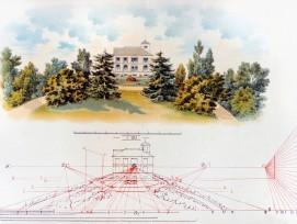 Die harmonische Wirkung eines «natürlichen Gartens» beruhte auf sorgfältiger Vermessung des Terrains. Sichtachsen und Ausblicke wurden bestimmt, bevor man über die Plätze und Höhen der Bäume und Sträucher entschied. Abbildung aus Gärtnerische Planzeichnun