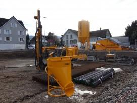 Baustelle Mehrfamilienhaus