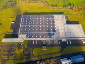 Photovoltaik-Anlage auf Aldi Logistikzentrum