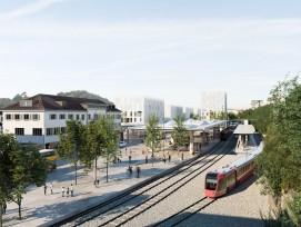 Visualisierung Bahnhof-Areal Herisau