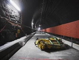 Bauarbeiten Lötschbergtunnel Sommer 2019