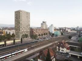 Visualisierung Überbauung am Bahnhof Sursee