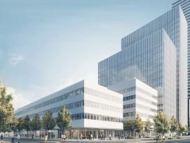 Visualisierung neues Forschungszentrum von Roche in Basel